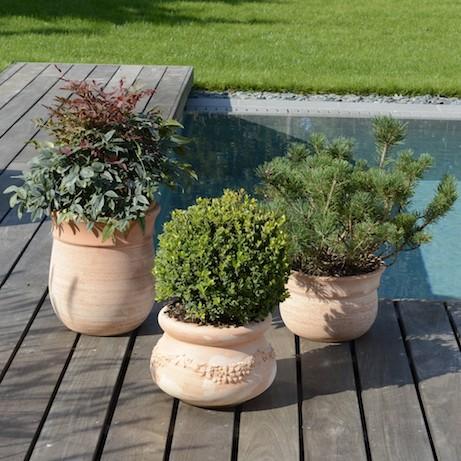 Vasi da giardino in terracotta terminali antivento per for Vasi in terracotta prezzi