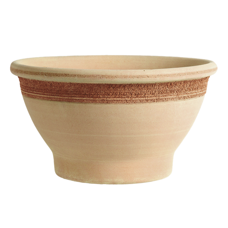 Ciotola Bordata terracotta Graffiata | Degrea: Produzione di vasi in terracotta