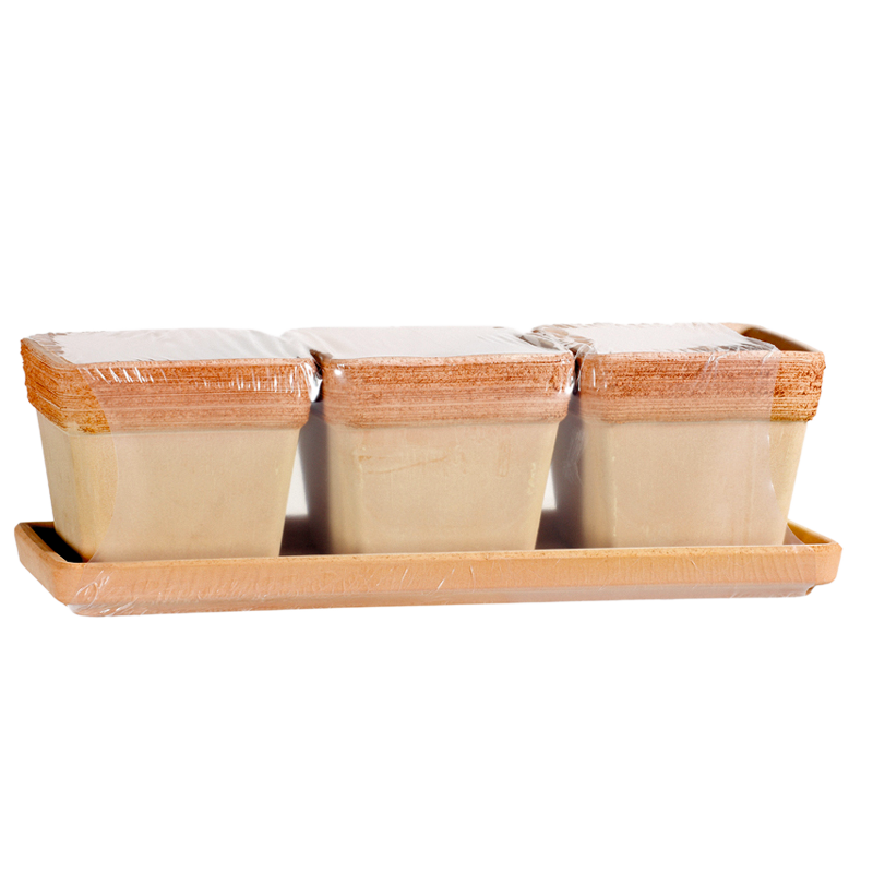 Kit Vaso Quadro Terracotta Graffiata | Degrea: Produzione di vasi in terracotta