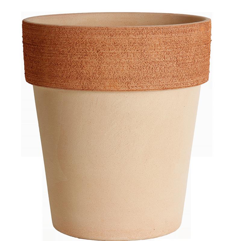 Vaso Alto Terracotta Graffiata | Degrea: Produzione di vasi in terracotta