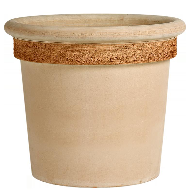 Vaso Milano Terracotta Graffiata | Degrea: Produzione di vasi in terracotta