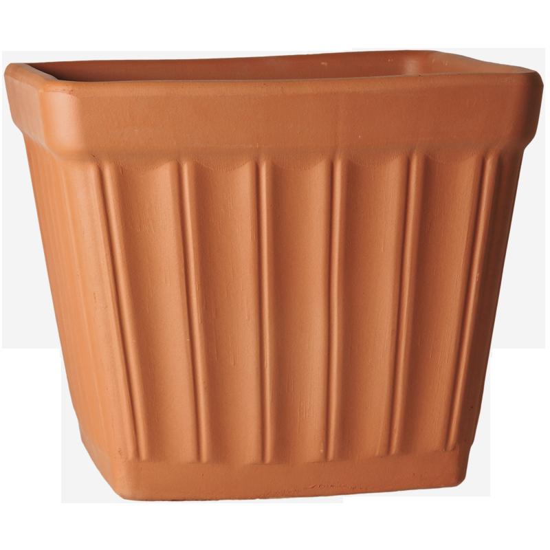Cesta Quadrata Terracotta Classica | Degrea: Produzione di vasi in terracotta