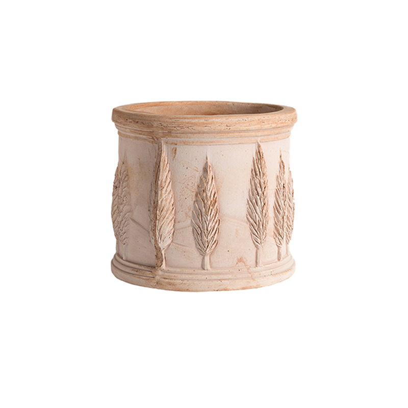 Cilindro Cipressi Terracotta Oasi Classica | Degrea: Produzione di vasi in terracotta