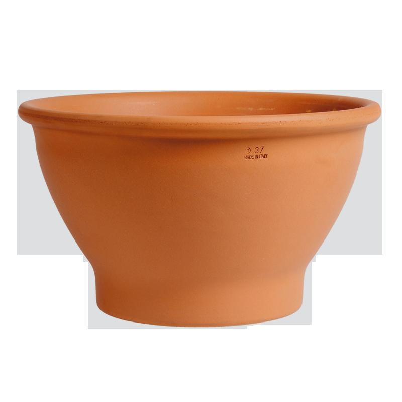 Ciotola Bordata Terracotta Classica | Degrea: Produzione di vasi in terracotta