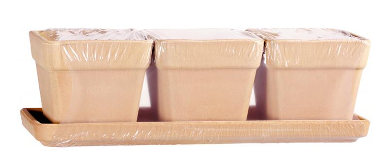 Kit Vaso Quadro Terracotta Arena | Degrea: Produzione di vasi in terracotta