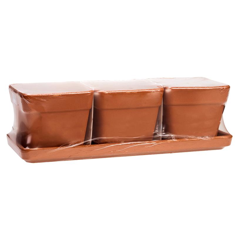 Kit Vaso Quadro Terracotta Classica | Degrea: Produzione di vasi in terracotta