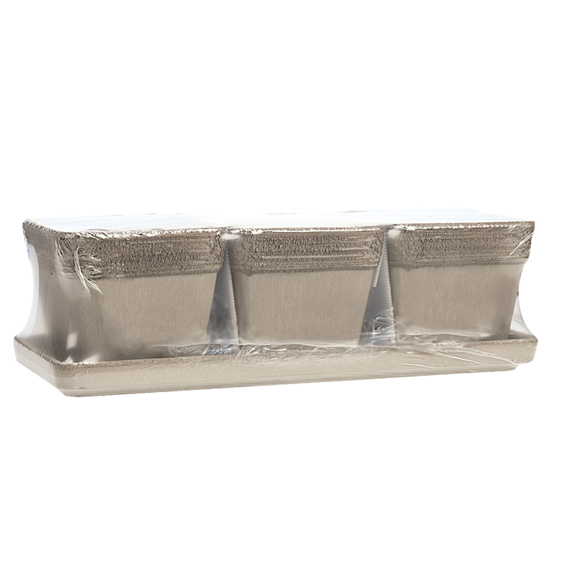 Kit Vaso Quadro Terracotta Vulcano Graffiata | Degrea: Produzione di vasi in terracotta