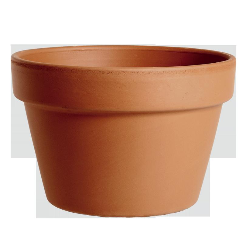 Mezzo Vaso Terracotta Classica | Degrea: Produzione di vasi in terracotta