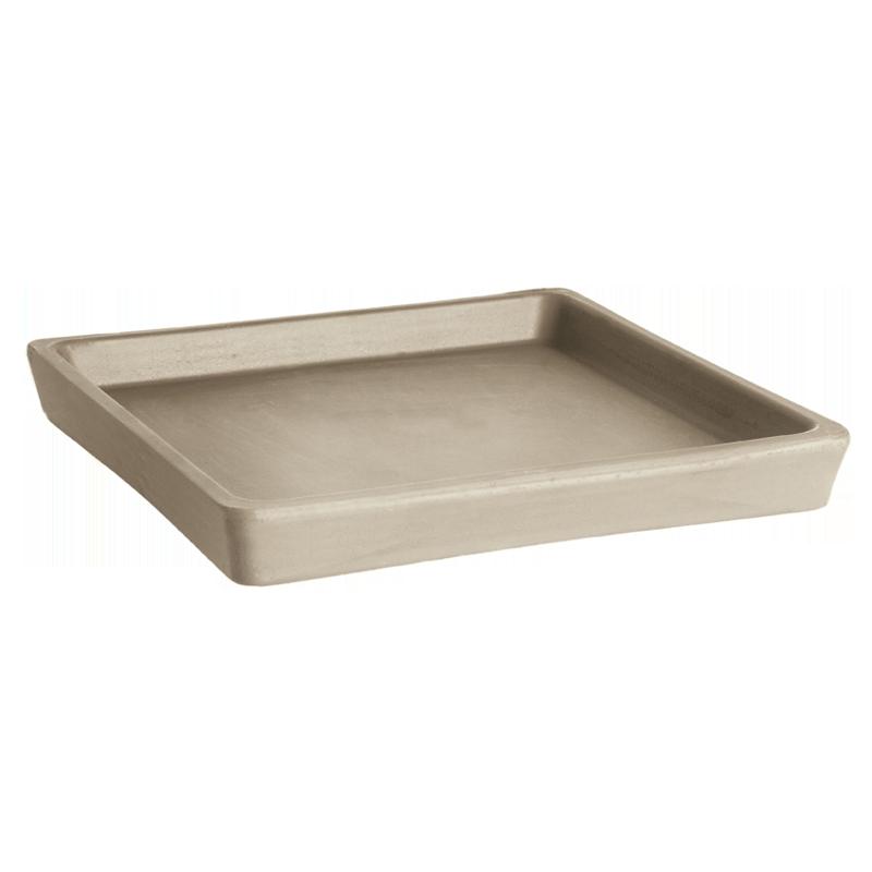 Sottovaso Quadro Terracotta Vulcano Graffiata | Degrea: Produzione di vasi in terracotta