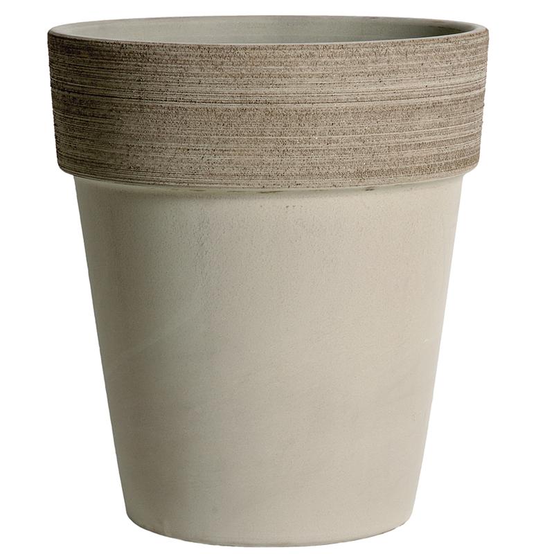 Vaso Alto Terracotta Vulcano Graffiata | Degrea: Produzione di vasi in terracotta