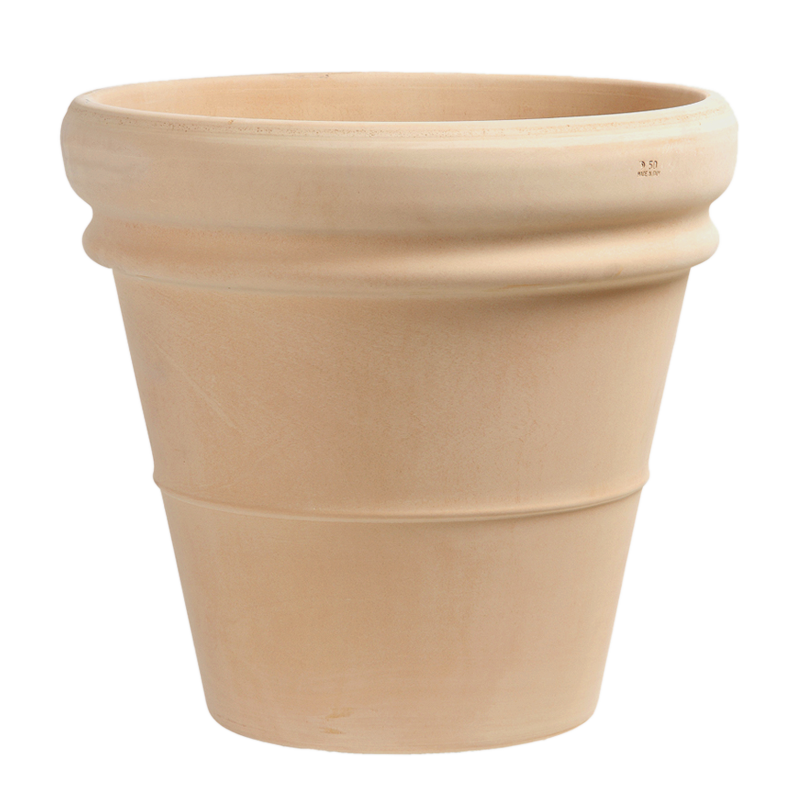 Vaso Doppio Bordo Terracotta Arena | Degrea: Produzione di vasi in terracotta
