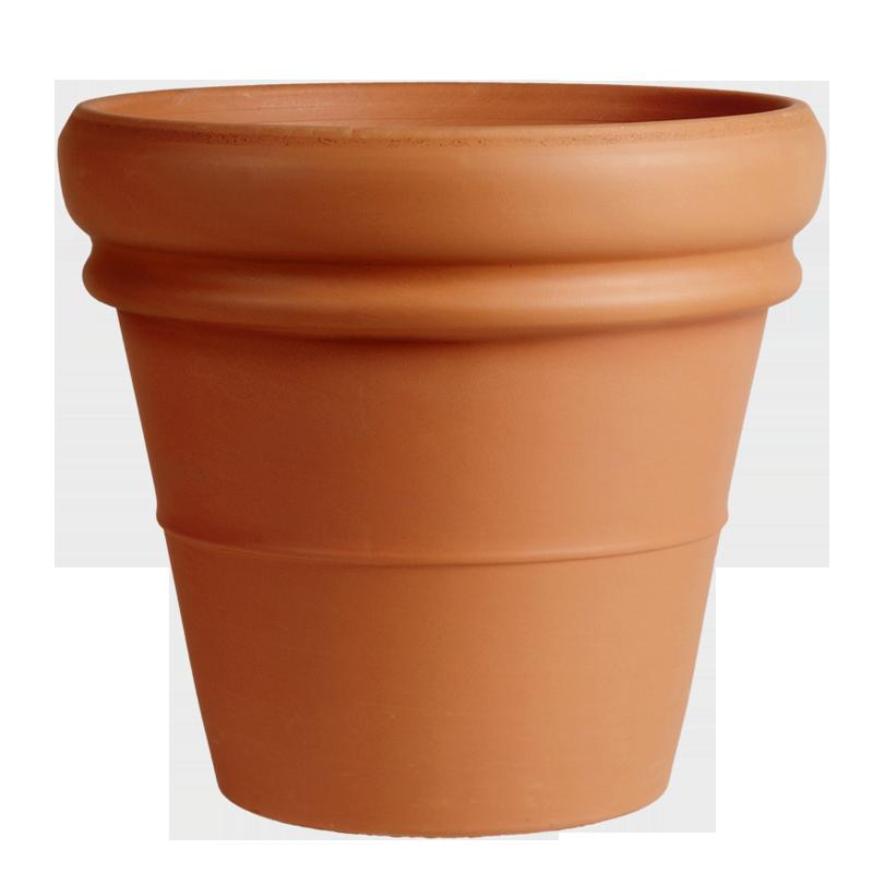 Vaso Doppio Bordo Terracotta Classica | Degrea: Produzione di vasi in terracotta