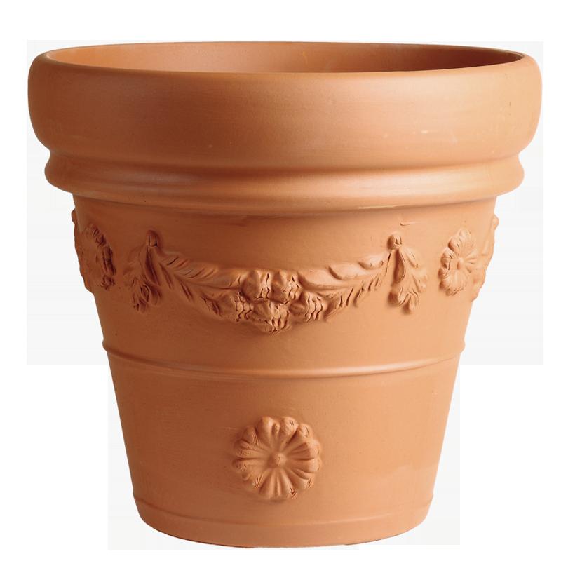 Vaso Festonato Terracotta Classica | Degrea: Produzione di vasi in terracotta