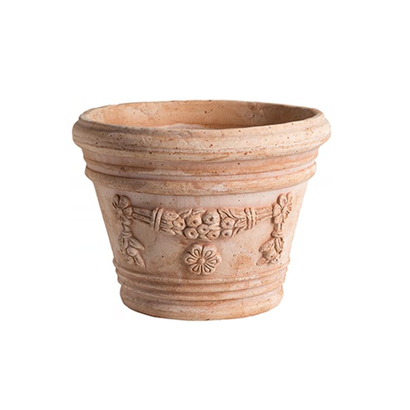 Vaso Liberty Festonato Terracotta Oasi Classica | Degrea: Produzione di vasi in terracotta