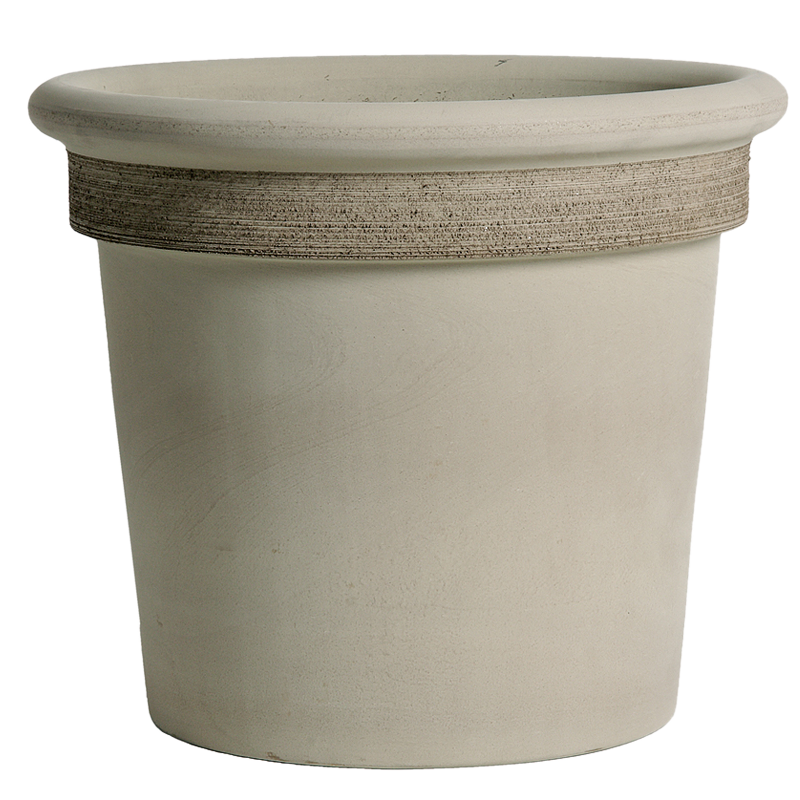 Vaso Milano Terracotta Vulcano Graffiata | Degrea: Produzione di vasi in terracotta