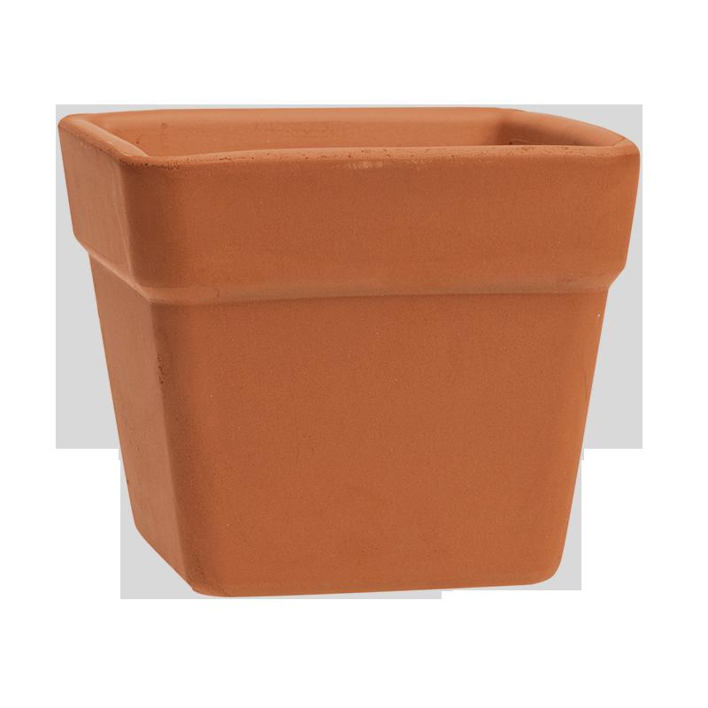 Vaso Quadro Terracotta Classica | Degrea: Produzione di vasi in terracotta