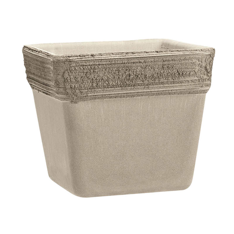 Vaso Quadro Terracotta Vulcano Graffiata | Degrea: Produzione di vasi in terracotta