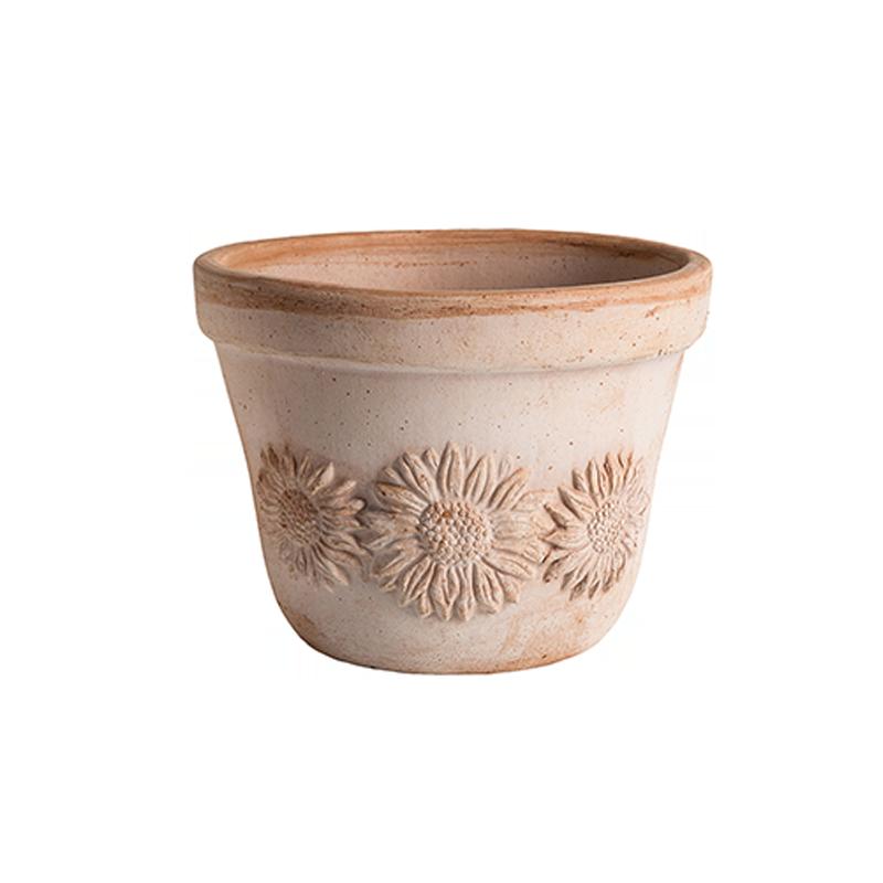 Vaso Sole Terraccotta Oasi Classica | Degrea: Produzione di vasi in terracotta